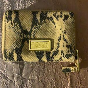 Badgley Mischka Snake 🐍 luxury zip around wallet